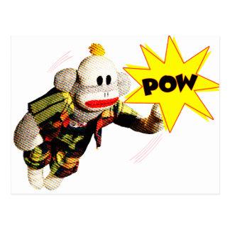 Toppen SockMonkey hjälte Vykort