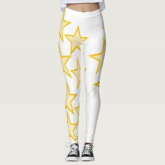 Toppen stjärnadamasker leggings