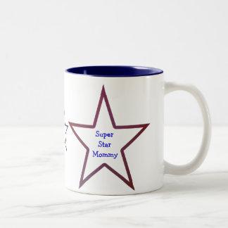 Toppen stjärnamammamugg Två-Tonad mugg