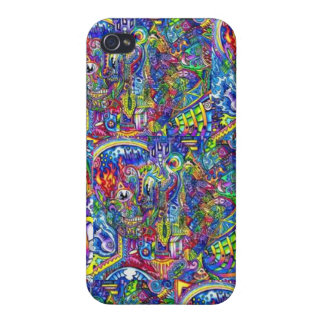 Toppen Trippy iphone case iPhone 4 Skydd