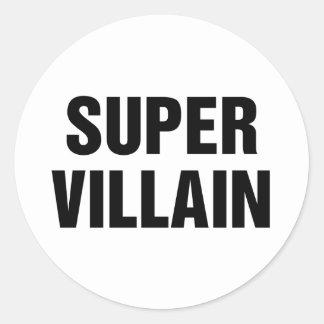 Toppen Villain Runt Klistermärke