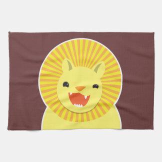 Toppet gulligt lejont le för ansikte! NP Kökshandduk
