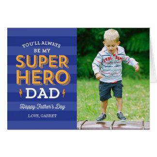 Toppet kort för pappafars dagfoto hälsningskort