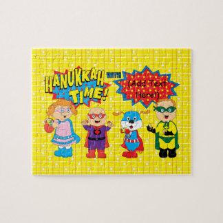 Toppna Hanukkah för Hanukkah pussel hjältar