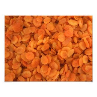Torkade aprikosar fototryck