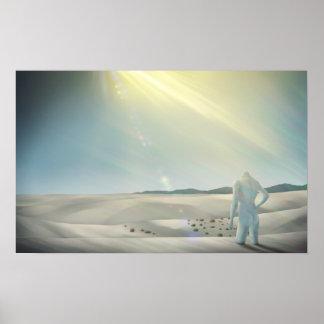 Torkat - overkligt tryck för affisch 24x15