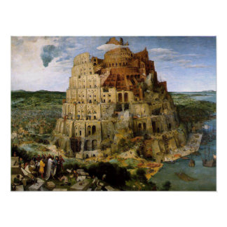 Torn av det Babel trycket Poster