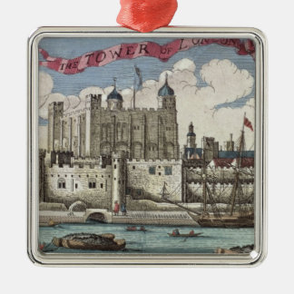 Torn av London som ses från floden Thames Julgransprydnad Metall