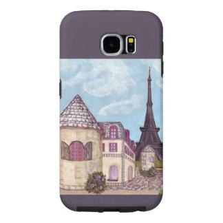 Torn för den Paris Eiffel tornrundan landskap Galaxy S5 Fodral