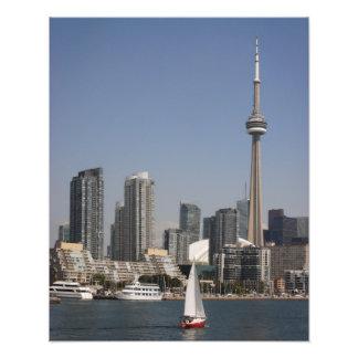 Toronto hamnhorisont med det röda fartyget fototryck