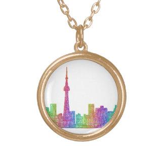 Toronto horisont guldpläterat halsband