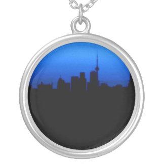 Toronto horisont silverpläterat halsband