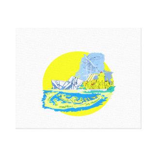 toronto Kanada akvarell ingen grafisk txtstad Canvastryck