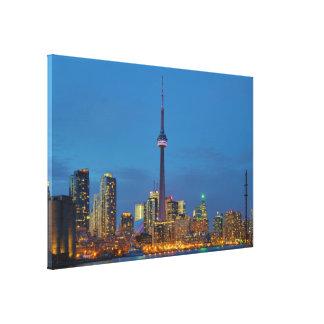 Toronto Ontario Kanada horisont på natten Canvastryck
