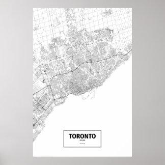Toronto Ontario (svarten på vit) Poster