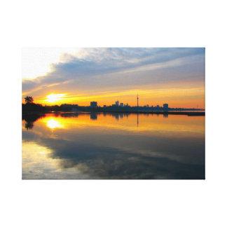 Toronto på soluppgången - kanfas canvastryck
