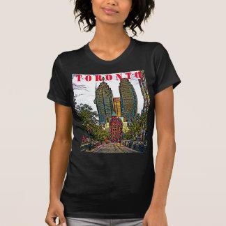 Toronto stadsT-TRÖJA, KONSTNÄRLIG DESIGN för Tee Shirt