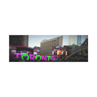 Toronto undertecknar bilden canvastryck