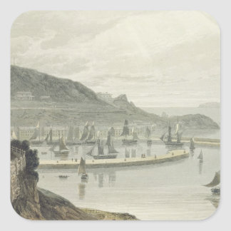 Torquay Devon, från volym VIII av 'en resa Arou Fyrkantiga Klistermärken