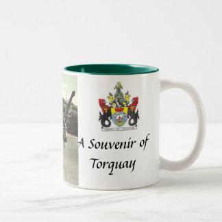 Torquay souvenirmugg Två-Tonad mugg