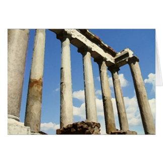 Torrt romerskt fora borstar OBS kort