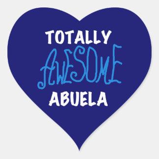 Totalt enorma Abuela blåttTshirts och gåvor Hjärtformat Klistermärke