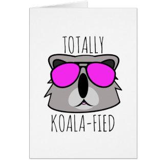 Totalt Koalafied Hälsningskort