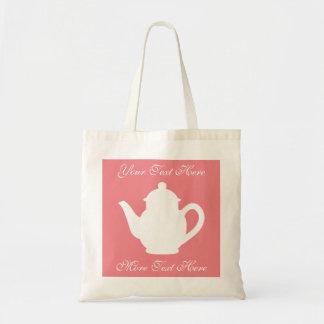 Tote bags för favör för party för rosa tea för tygkasse