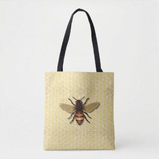 Tote bags för honungskakahonungbi tygkasse