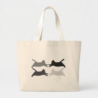 Tote bags för katter för silhouette för jumbo tygkasse