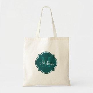 Tote bags för Monogram för krickaanpassningsbarper
