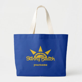 Tote bags för monogram för solig strandBULGARIEN