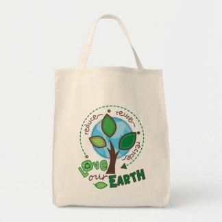 Toto för återvinnajordlivsmedel mat tygkasse