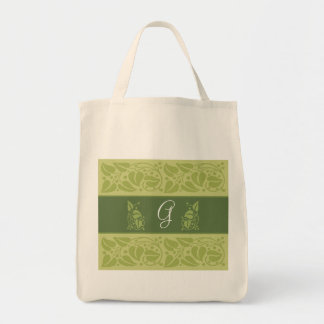 Toto för Eco grön Monogramlivsmedel Mat Tygkasse
