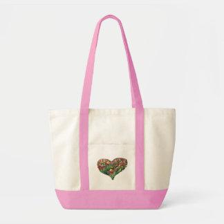 Toto för impuls för tulpanhjärta rosa kassar