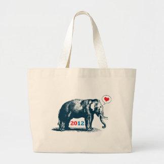 Toto för Jumbe för gullig vintageGOP-elefant repub Jumbo Tygkasse