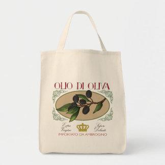 Toto för konst för etikett för oliv för tygkasse
