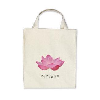 Toto för livsmedel för rosa lotusblomma för Nirvan Tygkasse