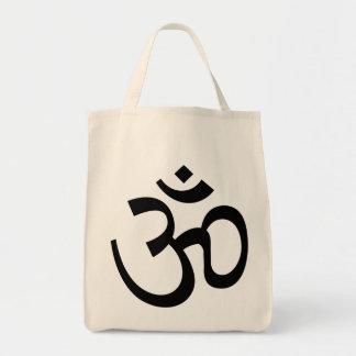 toto för livsmedel för symbol för om-aum helig tygkasse