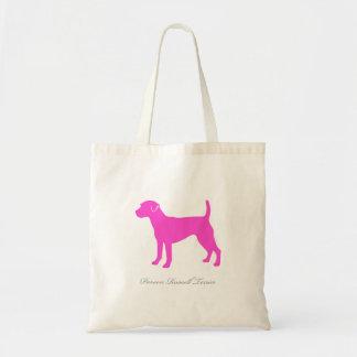 Toto för ParsonRussell Terrier (den rosa silhouett Tygkassar