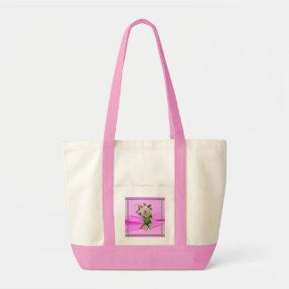 Toto för rosa dam tygkasse