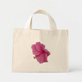 Toto för rosa hibiskus för vattenfärg liten mini tygkasse