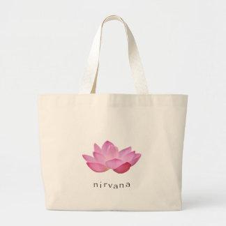 Toto för rosa lotusblomma för Nirvana stor Tote Bags