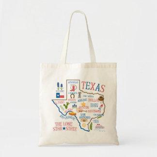 Toto för Texas statlig Landmarksillustration Tygkasse