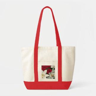 Toto för vitliljaröd ros tygkassar