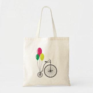 toto med den retro cykeln med ballonger budget tygkasse