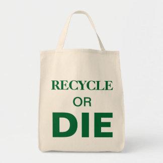 Totot för beställnings- text för återvinna- eller mat tygkasse