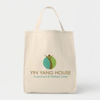 Totot för bomull för det Yin Yang huset hänger lös Tygkasse