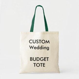 Totot för bröllopanpassningsbarbudget hänger lös tygkasse