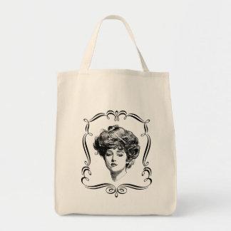 Totot för den vintagekonstGibson flickan hänger Mat Tygkasse